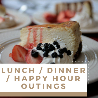 Village Green Events & Activities - Lunch Dinner and Happy Hour Outings