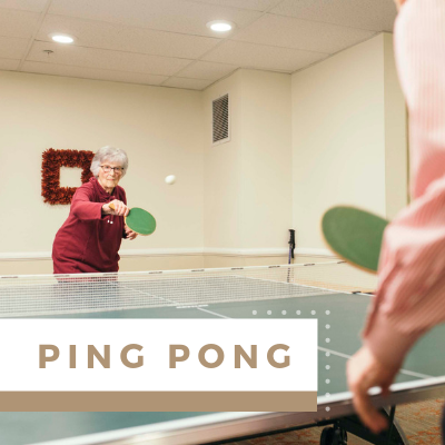 Village Green Events & Activities - Ping Pong