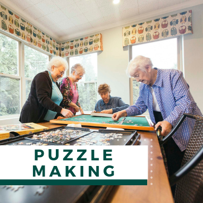 Village Green Events & Activities - Puzzel Making