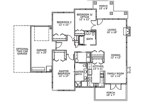 The Birch - 3 Bedroom Cottages Independent Living Floor Plan