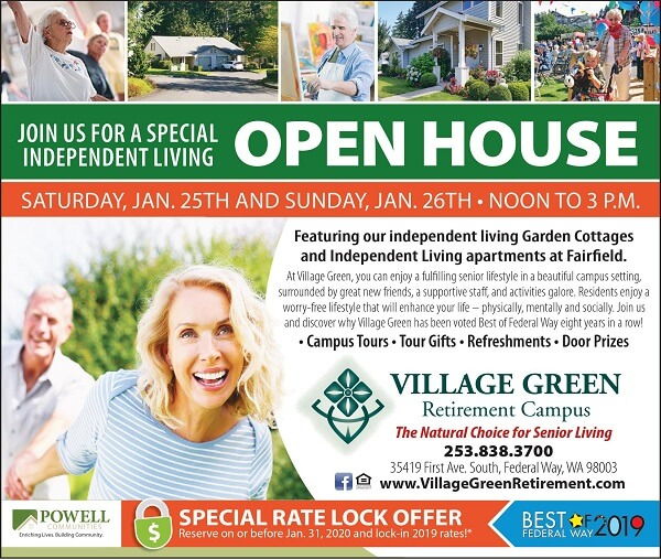 Open House Event at Village Green Retirement Community in Federal Way, Washington
