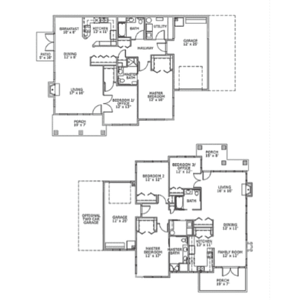 Senior Living Cottage Floor Plans at Village Green Retirement Village (1)