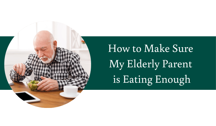 How to Make Sure My Elderly Parent is Eating Enough